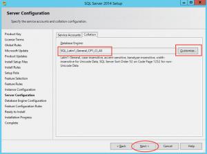 Ilustración 11 – Instalación de SQL Server | Configuración de Intercalación (Collation) para la instancia de SQL Server seleccionada.