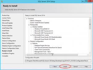 Ilustración 13 – Instalación de SQL Server | Inicio de Instalación propiamente dicha del Motor SQL Server y sus componentes seleccionados.