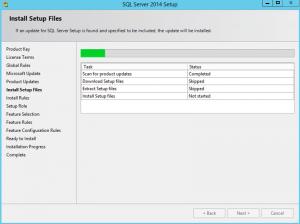Ilustración 5 – Instalación de SQL Server | Actualización de archivos de instalación.