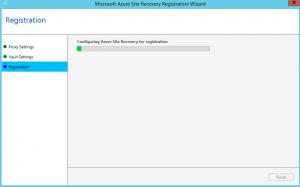 Ilustración 14 – Asistente para instalación del Proveedor de Azure Site Recovery en Hyper-V: registro del Vault.