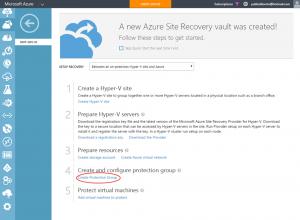 Ilustración 17 – Creación y Configuración de Grupo de Protección en Azure Site Recovery Vault.