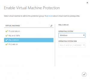 Ilustración 23 – Agregado de Máquinas Virtuales al Grupo de Protección en Azure Site Recovery Vault.