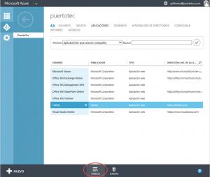 Ilustración 3 – Agregando una Aplicación Web de Terceros a Azure Active Directory.