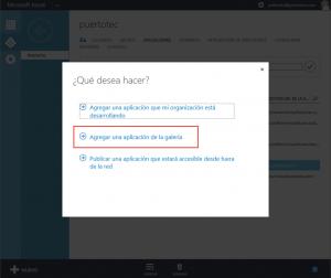 Ilustración 4 – Agregando una Aplicación Web de Terceros a Azure Active Directory.