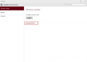 Ilustración 2 – Configuración de Windows Update para recibir los últimos Builds de Windows 10 (Fast Ring).