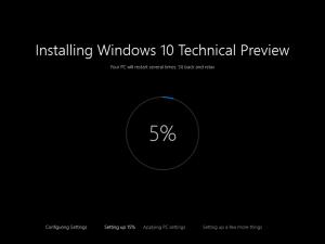 Ilustración 5 – Instalación de nuevo Build de Windows 10 (Fast Ring).