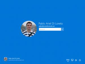 Ilustración 6 – Inicio de Sesión en nuevo Build de Windows 10 (Fast Ring).
