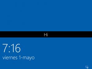 Ilustración 14 – Instalación de Windows 10 Build 10074. Primer inicio de sesión.