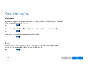 Ilustración 5 – Instalación de Windows 10 Build 10074. OOBE de Windows 10.