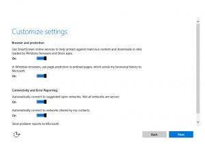 Ilustración 6 – Instalación de Windows 10 Build 10074. OOBE de Windows 10.
