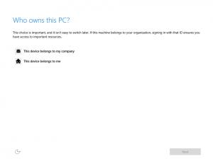 Ilustración 8 – Instalación de Windows 10 Build 10074. OOBE de Windows 10 Professional. Elección de origen del equipo.
