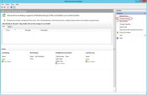 Ilustración 16 – Creación de Tarea de Backup en Azure Backup Agent de Windows Server.