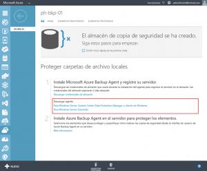 Ilustración 6 – Instalación de Agente de Azure Backup en Windows Server.