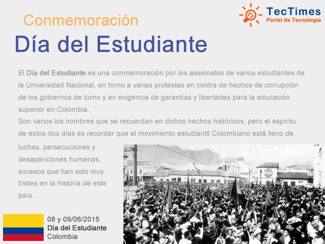 Dia del Estudiante en Colombia - 08 y 09/06/2015