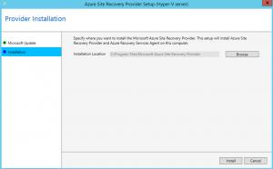 Ilustración 9 – Asistente para instalación del Proveedor de Azure Site Recovery en Hyper-V.