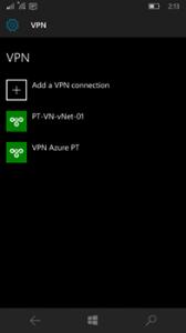 Ilustración 6 -Administración de Conexiones a Redes en Windows 10 Mobile.