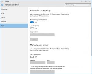 Ilustración 9 - Administración de Proxy en Windows 10 Desktop.