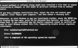 Ilustración 4 – Pantalla que indica que Windows 10 expiró y por ese motivo no inicia (modo error).
