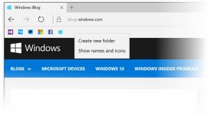 Qué hay de nuevo en Windows 10 Insider Preview Build 14267 - Barra de favoritos mejorada en EDGE.