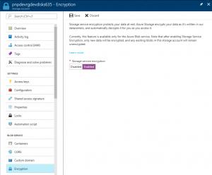 Encriptación de una Cuenta de Almacenamiento en Azure