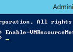 Comando Enable-VMResourceMetering para habilitar Resource Metering de Hyper-V 3.