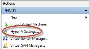 Configuración de Hyper-V Live Migration sin Shared Storage en Windows Server 2012.