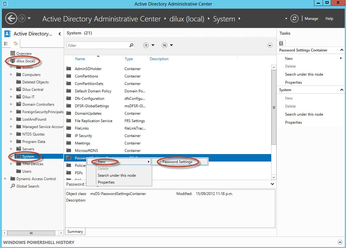Fine-grained Passwords y Account Lockout Policy en Windows Server 2012