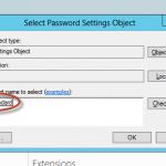 Asignación de política de contraseñas y bloqueo de cuentas en Active Directory