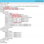 Contenido agregado al archivo Estructura del archivo Archivo DCCloneConfig.xml recientemente creado.