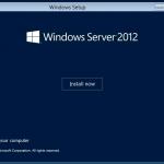Instalación de Windows Server 2012.
