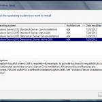 Instalación de Windows Server 2012 - Selección de Edición y tipo de instalación. Selección de tipo de instalación.