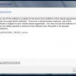 Instalación de Windows Server 2012. Aceptación de contrato.