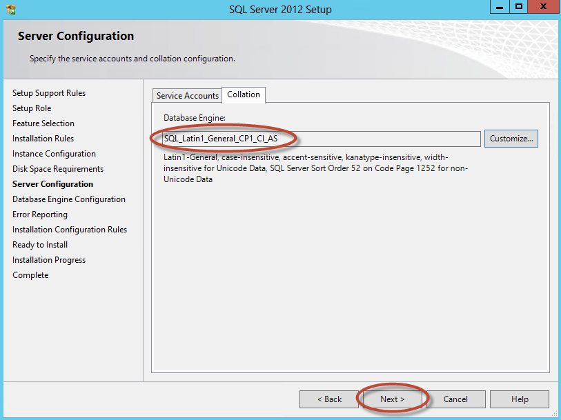 Instalación de SQL Server 2012 para System Center Virtual Machine Manager 2012 SP1