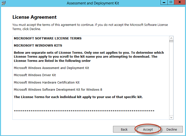 Instalación de Assessment & Deployment Kit para System Center Virtual Machine Manager 2012 SP1
