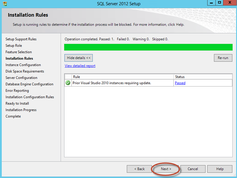 Instalación de SQL Server 2012 para System Center Virtual Machine Manager 2012 SP1