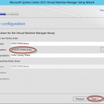 Instalación de System Center Virtual Machine Manager 2012 SP1 (beta)
