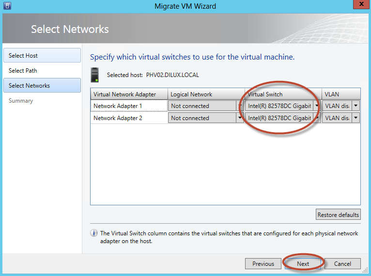 Configuración de System Center Virtual Machine Manager 2012 SP1 - Migración de Equipos Virtuales