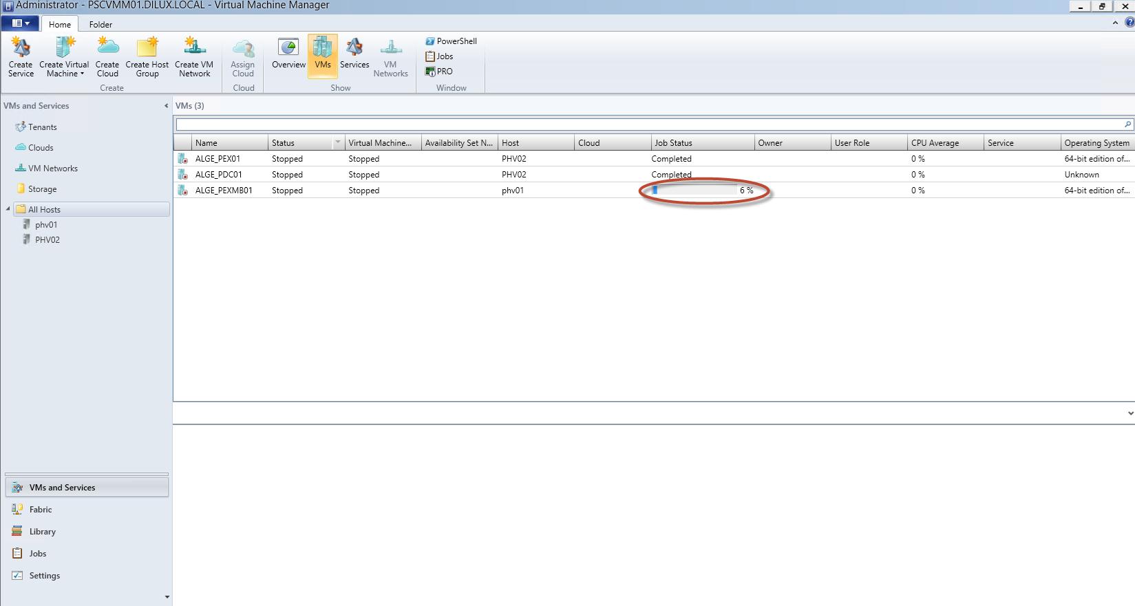 Configuración de System Center Virtual Machine Manager 2012 SP1 - Migración de Equipos Virtuales