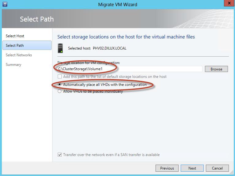 Hyper-V 3 Cluster y System Center Virtual Machine Manager 2012 SP1 - Migración de Equipos a Alta Disponibilidad