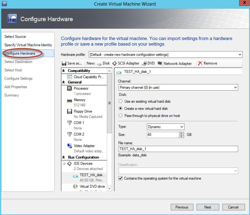 Hyper-V 3 Cluster y System Center Virtual Machine Manager 2012 SP1 - Creación de Equipos en Alta Disponibilidad
