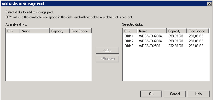 Configuración de Storage para Backup para System Center Data Protection Manager 2012 (DPM 2012)