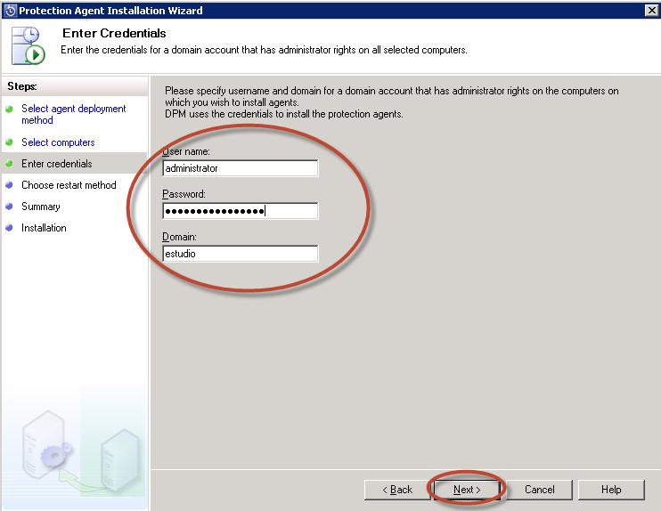 Instalación de Agentes en los Hosts para System Center Data Protection Manager 2012 (DPM 2012)