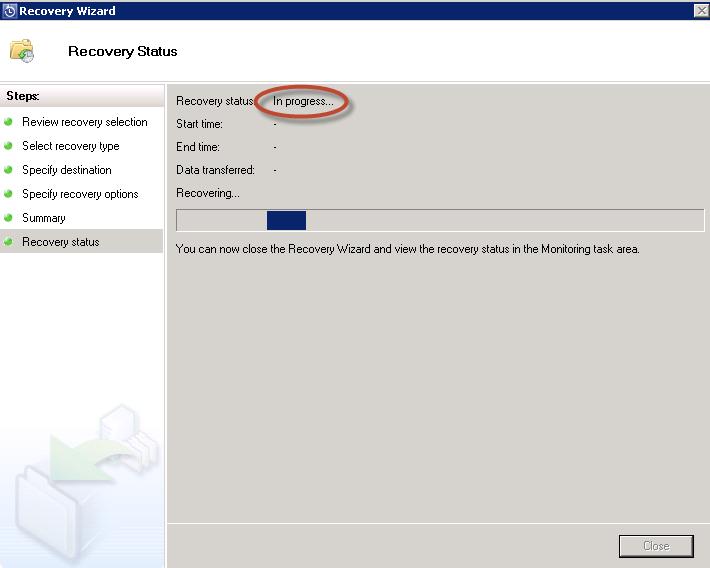 Recuperación de Prueba en System Center Data Protection Manager 2012 (DPM 2012)