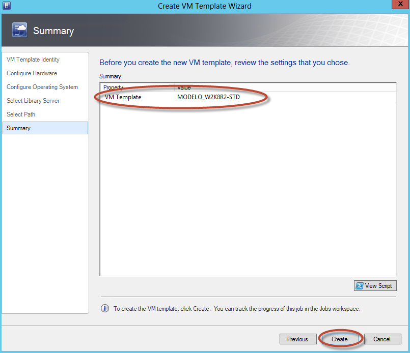 Creación de Plantilla (Template) en System Center Virtual Machine Manager 2012 - Elección de Library Server y Ubicación