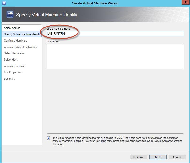Creación de un Equipo Virtual basado en una plantilla de System Center Virtual Machine Manager 2012