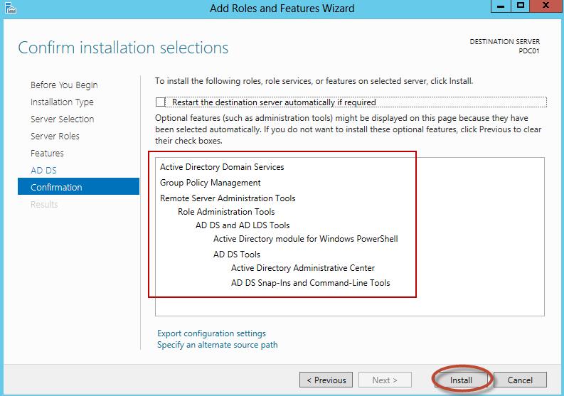 """Instalación de Rol """"Active Directory Domain Services"""" en Windows Server 2012"""
