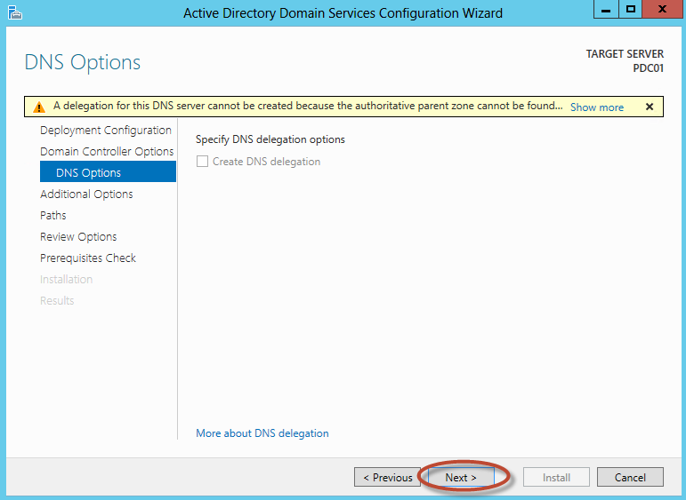Configuración de Active Directory Domain Services en Windows Server 2012 - Promoción de Root Forest Domain