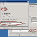 Ilustración 18 – Propiedades del Logueo SMTP.