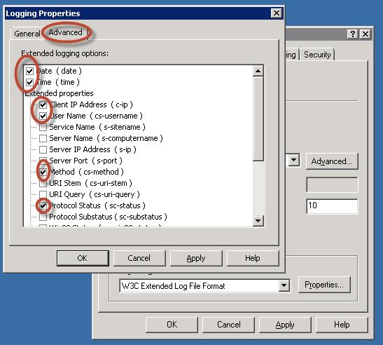 Ilustración 19 – Configuración de Ubicación y Periodicidad del logueo de eventos SMTP.