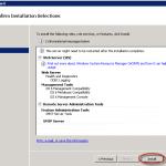 Ilustración 7 – Resumen de Features a instalar.